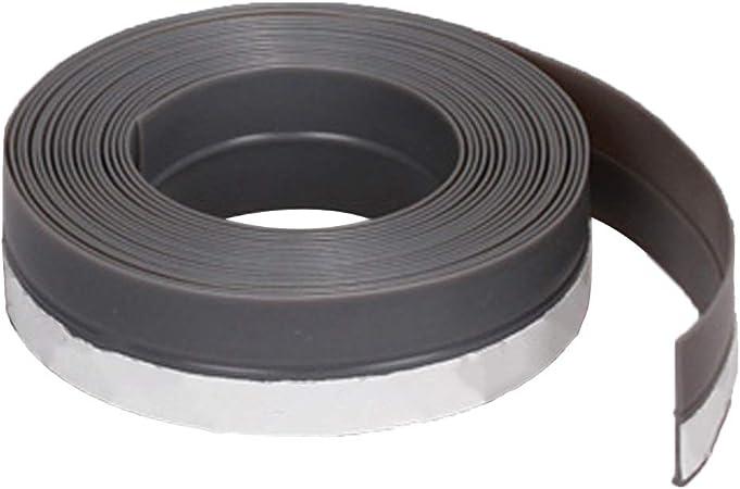 Tiras de sellado deslizantes de 45 mm para puerta burlete de burlete de puerta sin marco ventana puerta corredera sellos de goma de silicona 45 mm gris: Amazon.es: Hogar