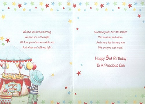 Happy 3rd Birthday Son Card
