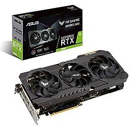 ASUS TUF Gaming NVIDIA GeForce RTX 3080 OC Edition Graphics Card (PCIe 4.0, 10GB GDDR6X, HDMI 2.1, DisplayPort 1.4a…