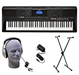 Yamaha PSR-EW400 76-Key Portable Keyboard Pack with Headphones, Power Supply, and Stand