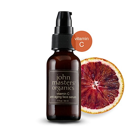John Masters Organics - Vitamin C Anti-Aging Face Serum - Moisturizer, Anti Wrinkle, Reduce Fine Lines, Repair Dry & Damaged Skin - 1 oz