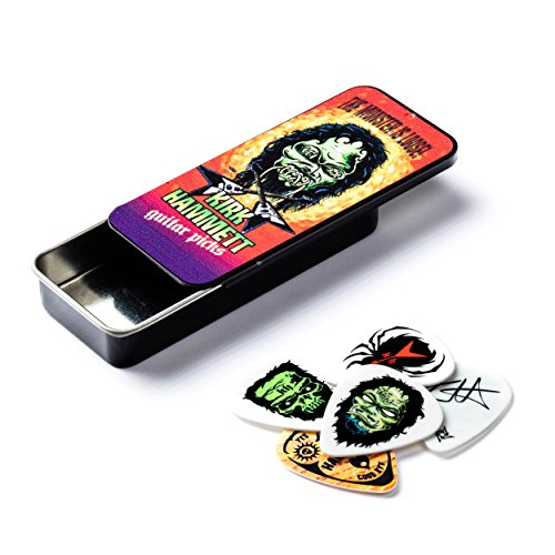 Dunlop KH01T088 Kirk Hammett Monster Pick Tin, Assorted, .88mm, 6 Picks/Tin (Metallica Pick For Guitar)