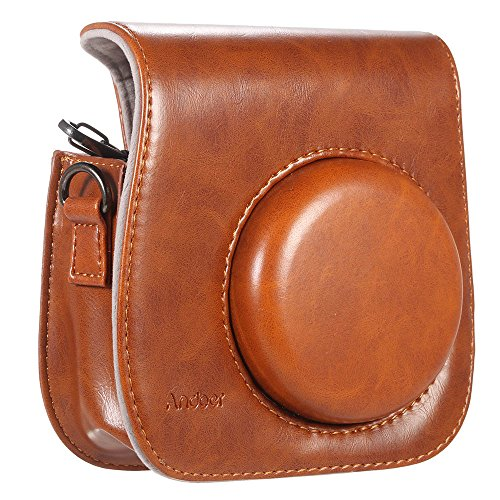 Andoer Camera Case Artificial Leather Single Shoulder Bag Cover for Fuji Fujifilm Instax Mini ()