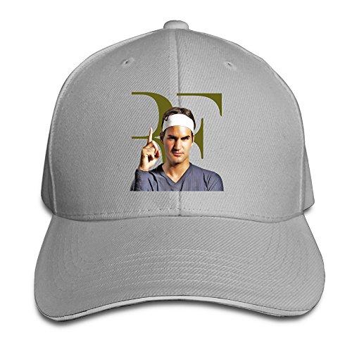 Karoda Roger Federer Sandwich Hunting Peak Hat & Baseball Cap Ash ()