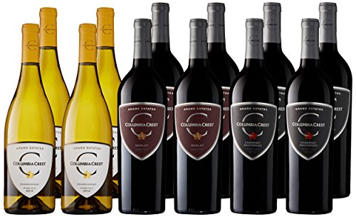 Columbia Crest Grand Estates Tasting Flight Wine Case Pack, 12 x 750 mL