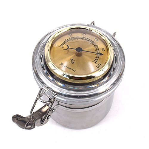 CiGuru TS001G Tobacco Jar Tobacco Storage Jar Herb Container Stainless Steel Airtight