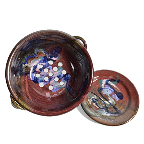Larrabee Ceramics 2-Piece Berry Bowl Set, Red/Multi