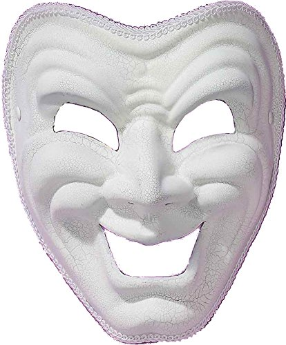 Forum Comedy Mask, White, One Size