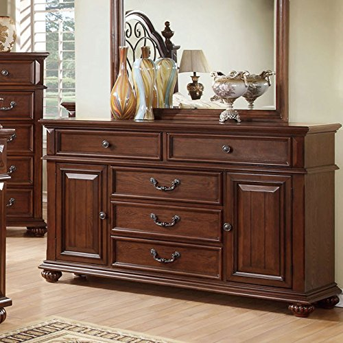 Dark Oak Finish Bedroom Chest - 3