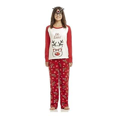 HIMABeauty Pijamas Dos Piezas Familiares De Navidad, Conjuntos ...