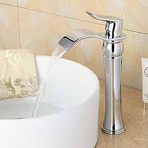 Bonade cascada grifo de lavabo agua fr a y caliente monomando cartucho de cer mica grifo de - Grifos de lavabo de diseno ...