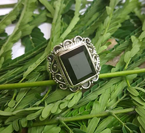 Daily wearable Earrings -In Oval Shape Boho Earrings Gift for Her Love Black Onyx Sterling Silver Black Onyx stone Handmade Earring