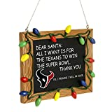 NFL Houston Texans Resin Chalkboard Sign Ornament, Blue, One Size