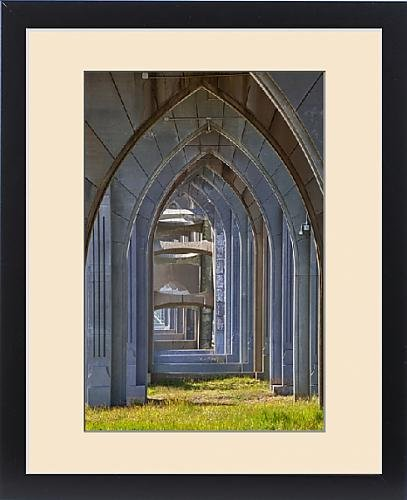 Framed Print of OR, Newport, Yaquina Bay Bridge, arches by Fine Art Storehouse
