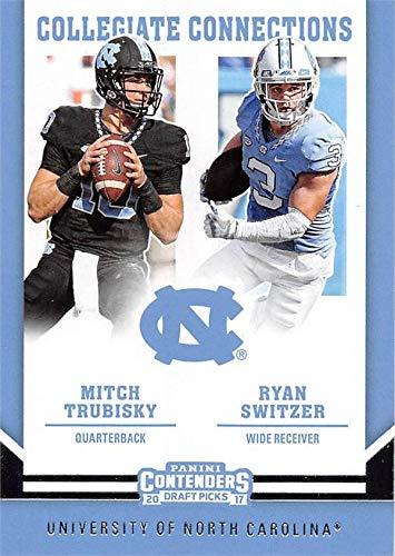 official photos 9fa32 98a01 Mitch Trubisky & Ryan Switzer football card (North Carolina ...