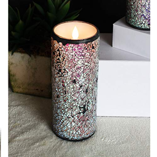LED Candle Flameless Moving Wick Wax Lights with Timer Home Decorations, 3x8 Inch -