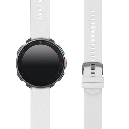 kwmobile Pulsera para Polar Vantage M - Brazalete de [Silicona] en [Blanco] sin Fitness Tracker