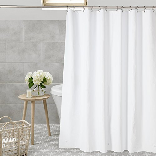 "Amazer Shower Curtain Liner, 72"" x 72"" White EVA 8G Mildew R"
