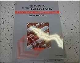 Phenomenal 2003 Toyota Tacoma Truck Electrical Wiring Diagrams Service Shop Wiring 101 Mecadwellnesstrialsorg
