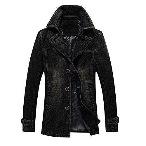Sau hombres chaqueta tendencia minimalista americanos hombres negro y de los Denim europeos La XXL de xqY8dIw8C
