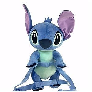 Disney Lilo And Stitch Jumbo 17 inch Plush/Crossbody Bag- Blue