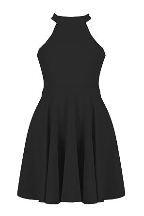 37eeb02537 Hover to zoom  sale retailer 4cae4 61c65 Kate Monochrome Skater Dress   innovative design 2aa97 86a06 Boohoo Womens Lottie High Neck Skater Dress  in Black ...