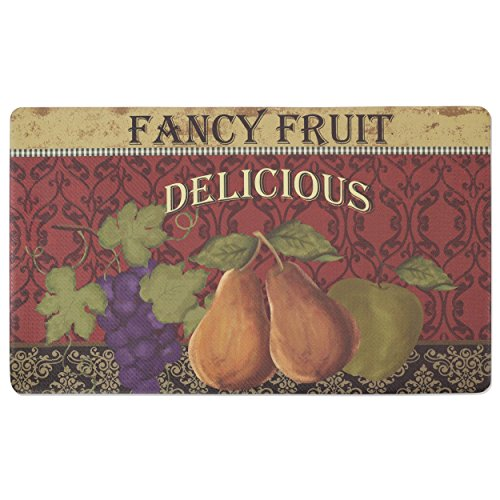 Chef Gear Fancy Fruit Anti-Fatique Comfort Memory Foam Chef Mat, 18 by 30-Inch by Chef Gear