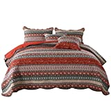 NEWLAKE Striped Classical Cotton Patchwork Bedspread Quilt Sets, Twin Size