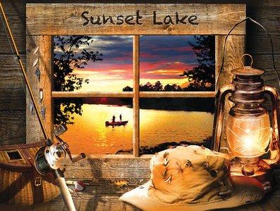 Sunset Lake 500 pc Jigsaw Puzzle by SunsOut