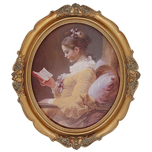 Simon's Shop Baroque Oval Frame 11x14 Vintage Picture Frames Fit Photos 11 x 14 (Bigger Than 8 x 10) in Gold for Gallery Wall Display (Antique Victorian Frame)