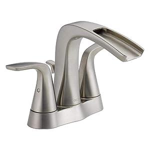 Delta Tolva 4 in. Centerset 2-Handle Bathroom Faucet in Stainless