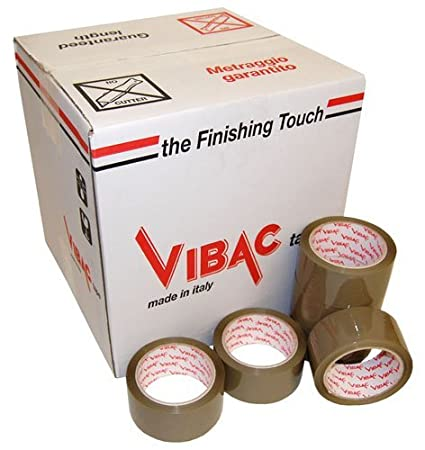 12 x Rolls Of VIBAC X-Strong Polyprop 48mmx66M Brown Packing Packaging Tape