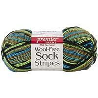 Premier Yarn 3-Pack Wool Free Sock Yarn, Rain Forest