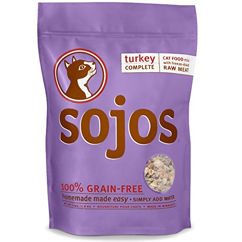 Sojos Complete Natural Grain Free Dry Raw Freeze Dried Cat Food Mix, (Sojos Grain)