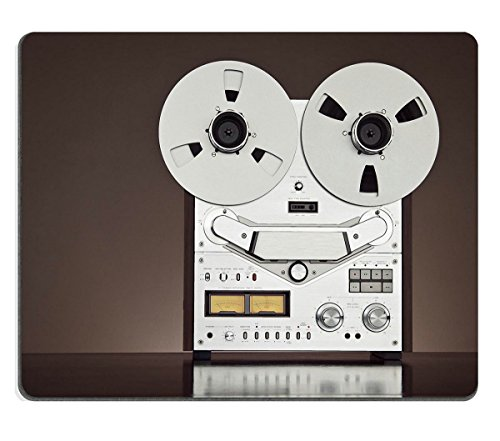 Smoomfly Mouse Pad Natural Rubber Mousepad IMAGE ID 31916617 Analog Stereo Open Reel Tape Deck Recorder Vintage Detailed Closeup