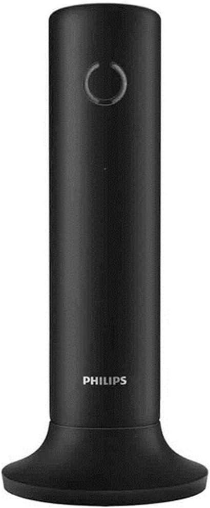 Philips Linea M3301B - Teléfono inalámbrico de diseño con altavoz (manos libres, teclas calibradas, HQ-Sound de alta calidad) color negro