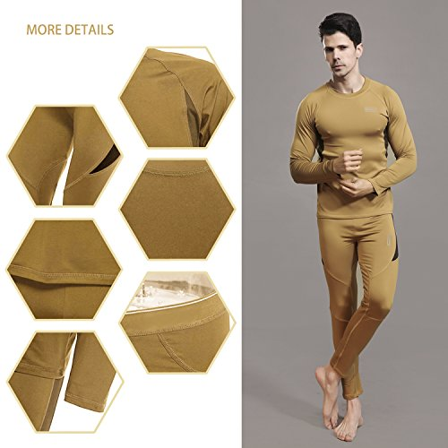 vêtement Pantalon Ensemble Manches Longues Homme Sous Thermique De Maillot Beige Uniquebella q6tZgR