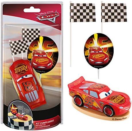 Dekora - Decoracion para Tartas con la Figura de Rayo McQueen de PVC de la Peliculas Cars , color/modelo surtido: Amazon.es: Juguetes y juegos