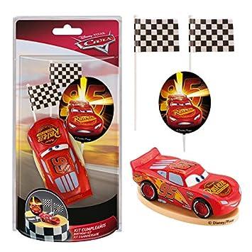 Dekora - Decoracion para Tartas con la Figura de Rayo McQueen de PVC de la Peliculas Cars