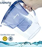 zero water container - Slim WATER FILTER PITCHER. 6 cups perfect size Jug. Certified by WQA. BPA Free. Removes hard metals and taste better. Alkaline and Neutral replacements for a healthy diet. FREE Cartridge included.