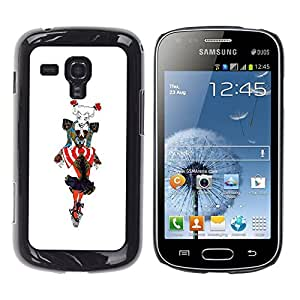 Ihec Tech Gráfico de la mujer de moda colorida del payaso Arte / Funda Case back Cover guard / for Samsung Galaxy S Duos S7562