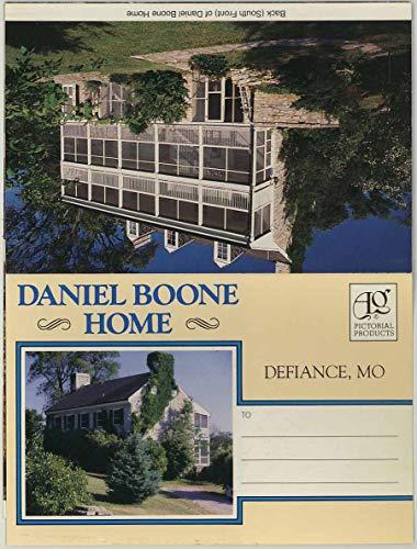 Daniel Boone Home - Defiance Missouri - 1971 Art Grossmann Souvenir Postcard Folder