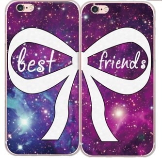 finest selection 638ec b2406 Amazon.com: iPhone 8 / 7 Compatible , BFF Best Friends Forever ...