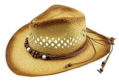 Cowboy Cowgirl Summer Sun Hat Western Fashionable Hiking Riding Straw One-Size
