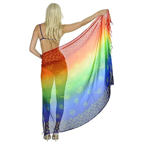 aa1431072e Sarong Bathing Suit Pareo Wrap Bikini Cover up Womens Chiffon Swimsuit  Swimwear hot sale 2017
