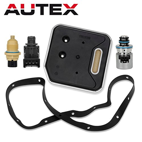 AUTEX Transmission Governor Pressure EPC Sensor Out Speed Solenoid Filter Kit 2000+ Compatible With Dodge Ram 3500 & Dakota & Durango & Ram 1500 & Ram 2500(for 14 holes gasket)