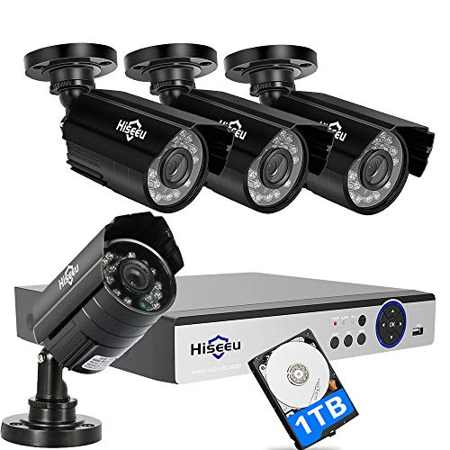 [Expandable 8CH] Security Camera System 1080N AHD Video DVR Recorder 1TB HDD Pre-Installed with 4X HD 2000TVL 1080P Night Vision Home Waterproof Indoor Outdoor CCTV Cameras,Motion Alert