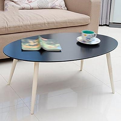 Mesas Centro Mesitas Café Mesa Oval Mellow Madera Sólida Pequeña Y ...