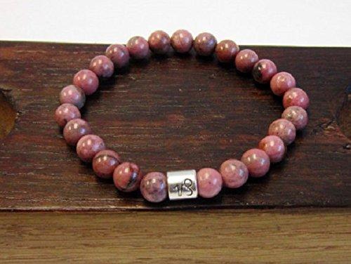 (Rhodonite Bracelet, Rhodonite Solar Plexus Heart Chakra Power Bracelet Love Healing Rhodonite Relaxing Yoga & Meditation Bracelet Rhodon)