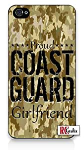 Premium Direct Print Proud Coast Guard Girlfriend Digital Camo Tan Camouflage iphone 6 Quality Hard Snap On Case for iphone 6/Apple iphone 6 - AT&T Sprint Verizon - White Case PLUS Bonus RCGRafix The Best Iphone Business Productivity Apps Review Guide